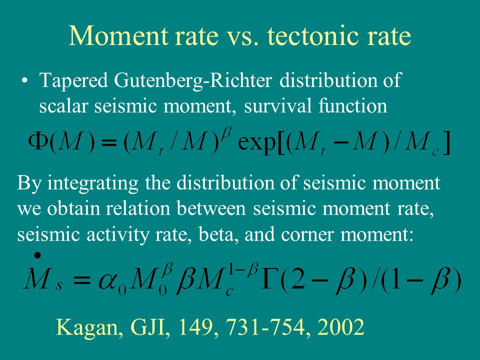 Moment rate vs.