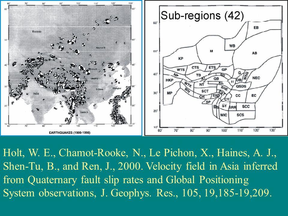 Holt, W. E., Chamot-Rooke, N., Le Pichon, X., Haines, A.