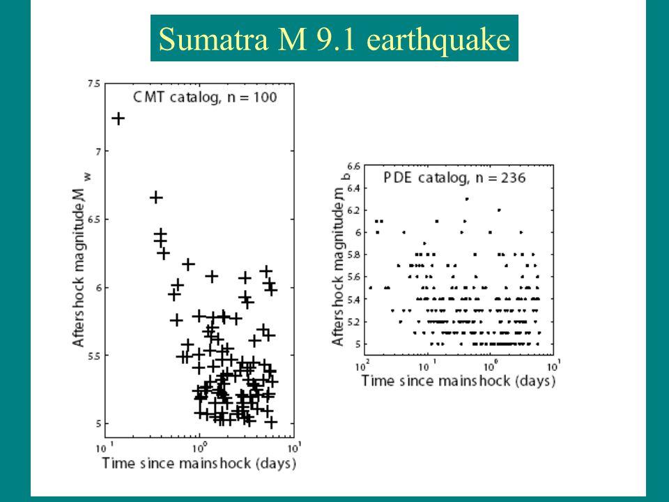 Sumatra M 9.1 earthquake