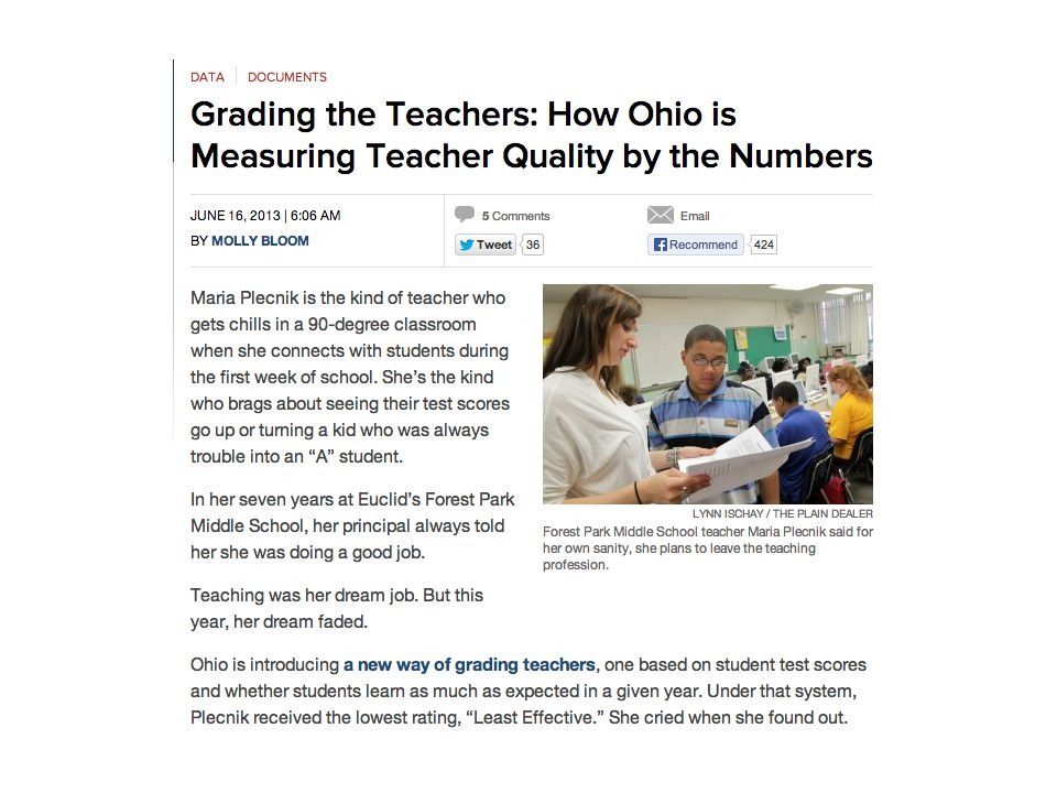 Teachers who receive top value- added rating are more likely to be in schools with fewer poor students
