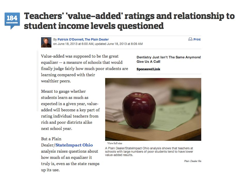 How We Did It ●Talking with teachers ●Interviewing experts ●Working with data