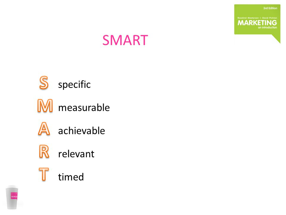 specific measurable achievable relevant timed SMART