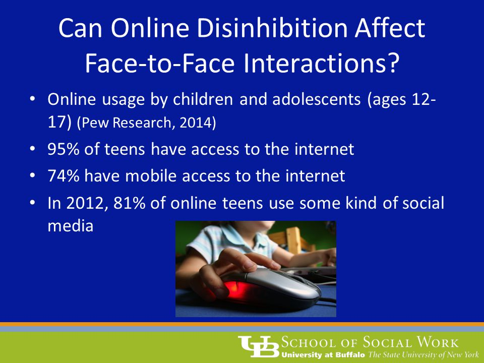 Can Online Disinhibition Affect Face-to-Face Interactions.