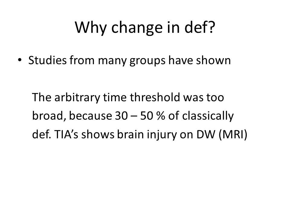 Who will these strokes occur in.We need to identify risk factors for stroke after TIA.