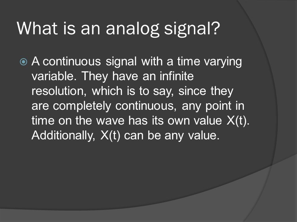 What is a digital signal.