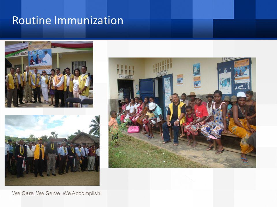 Routine Immunization We Care. We Serve. We Accomplish.