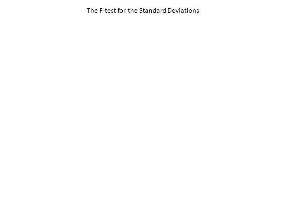 The F-test for the Standard Deviations