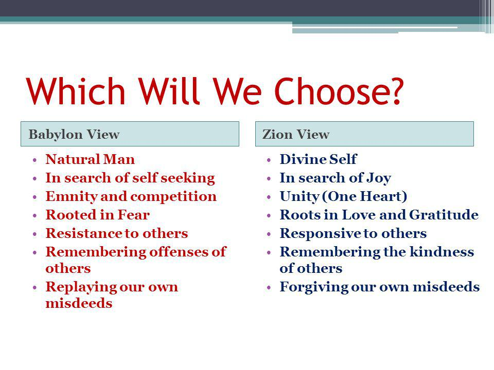 Which Will We Choose.