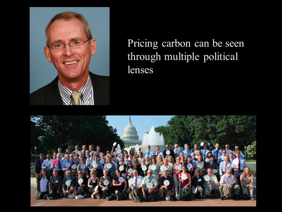 Pricing carbon can be seen through multiple political lenses