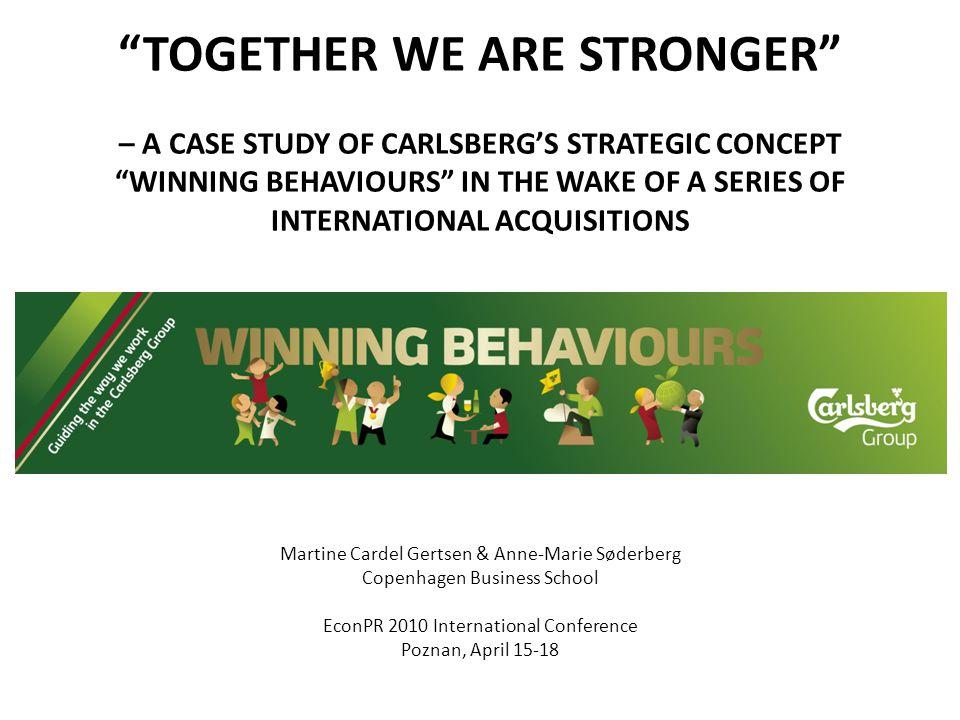 Carlsberg's history – very briefly 1847: Carlsberg is founded in Copenhagen, Denmark, where it is still headquartered.