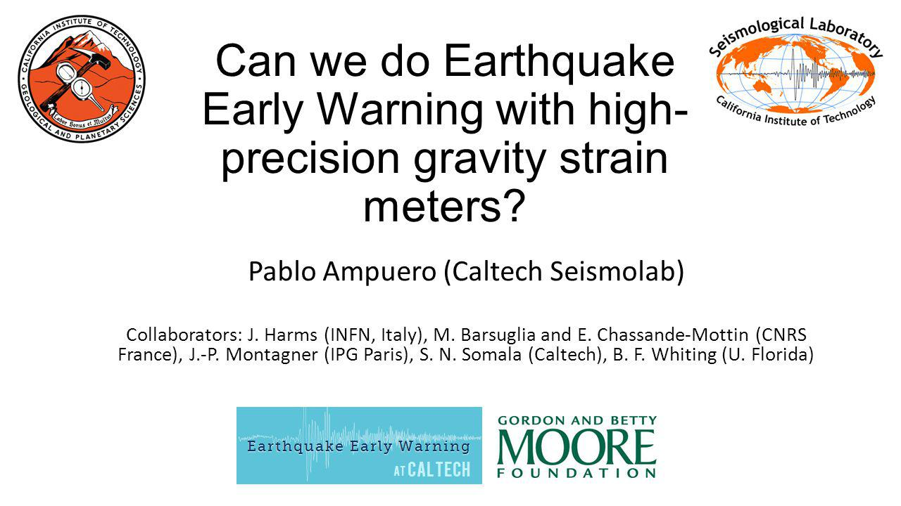 Can we do Earthquake Early Warning with high- precision gravity strain meters.