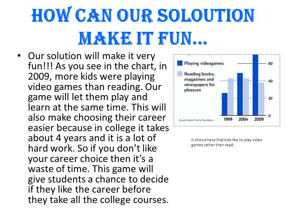 HOW CAN OUR SOLOUTION MAKE IT FUN... Our solution will make it very fun!!.