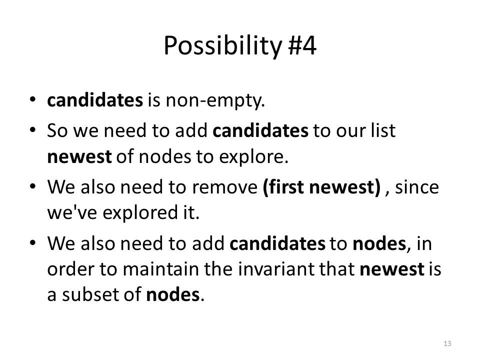 Possibility #4 candidates is non-empty.