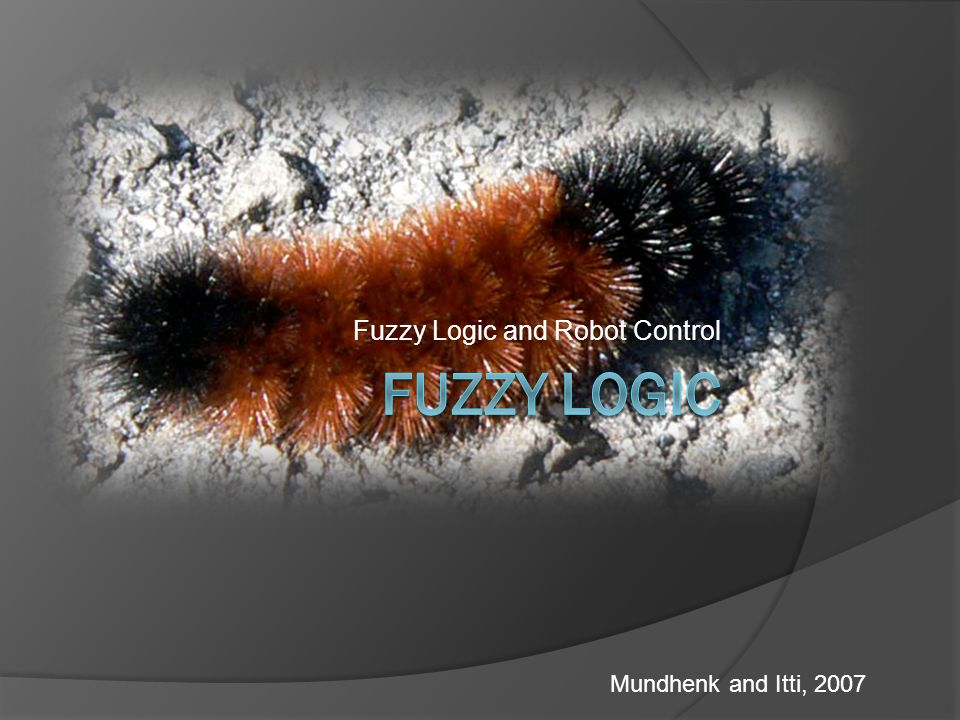 Fuzzy Logic and Robot Control Mundhenk and Itti, 2007