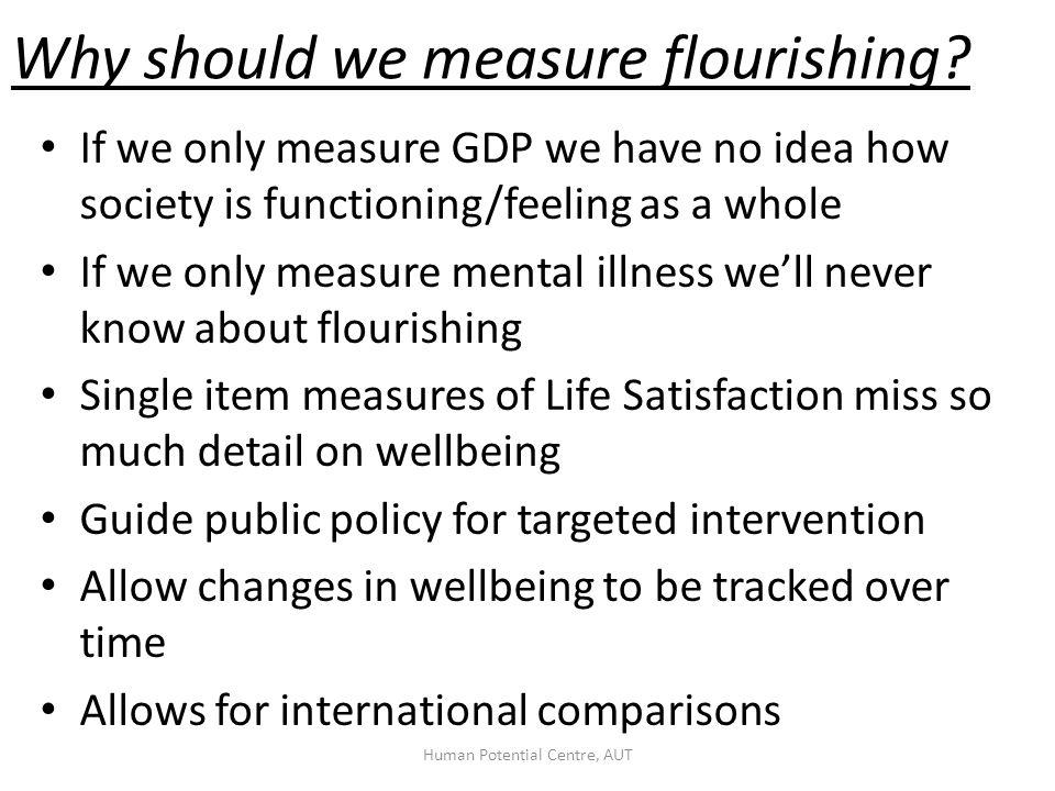 Why should we measure flourishing.