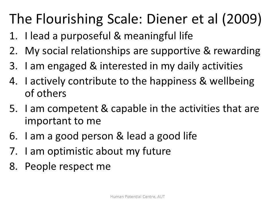 Who's flourishing in NZ (using the Flourishing Scale).