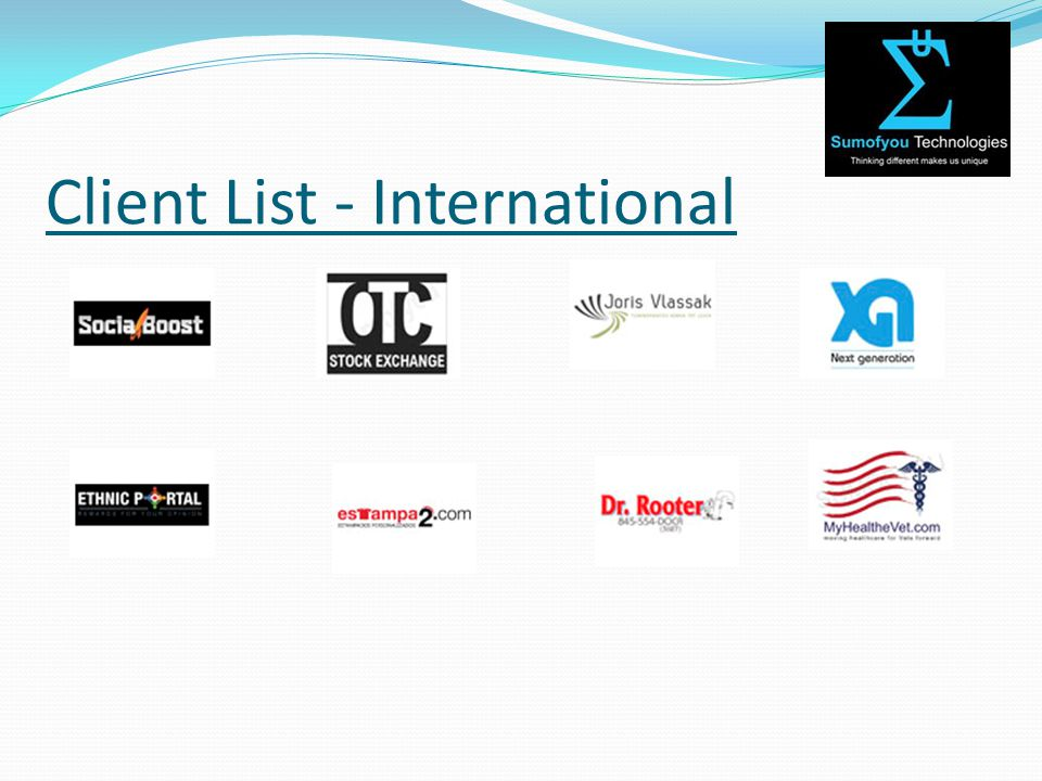 Client List - International