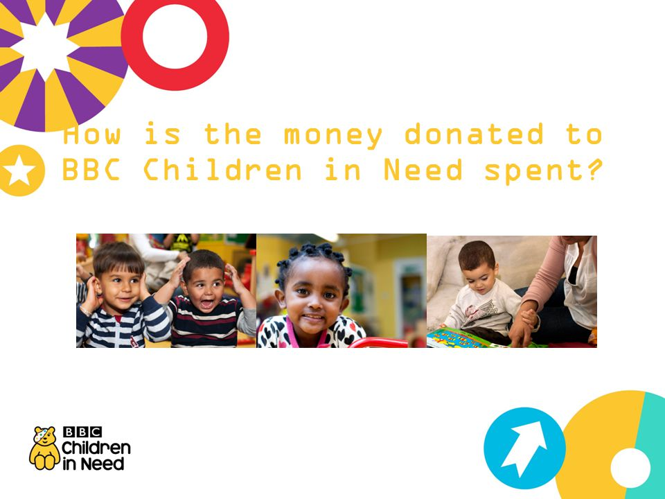 How is the money donated to BBC Children in Need spent?