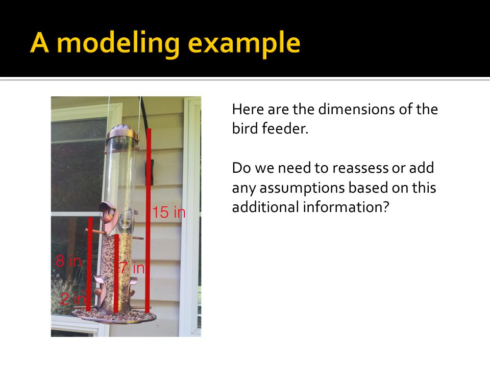 Here are the dimensions of the bird feeder.