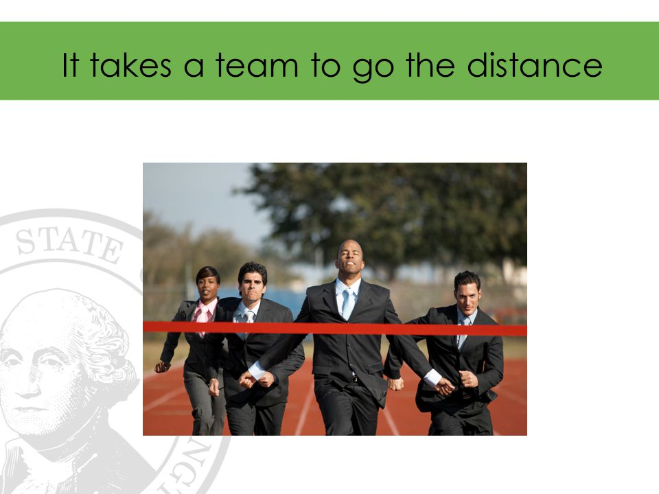 It takes a team to go the distance