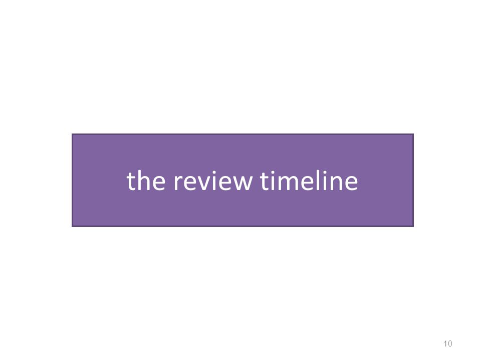 the review timeline 10