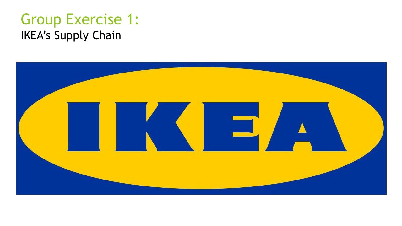 Group Exercise 1: IKEA's Supply Chain