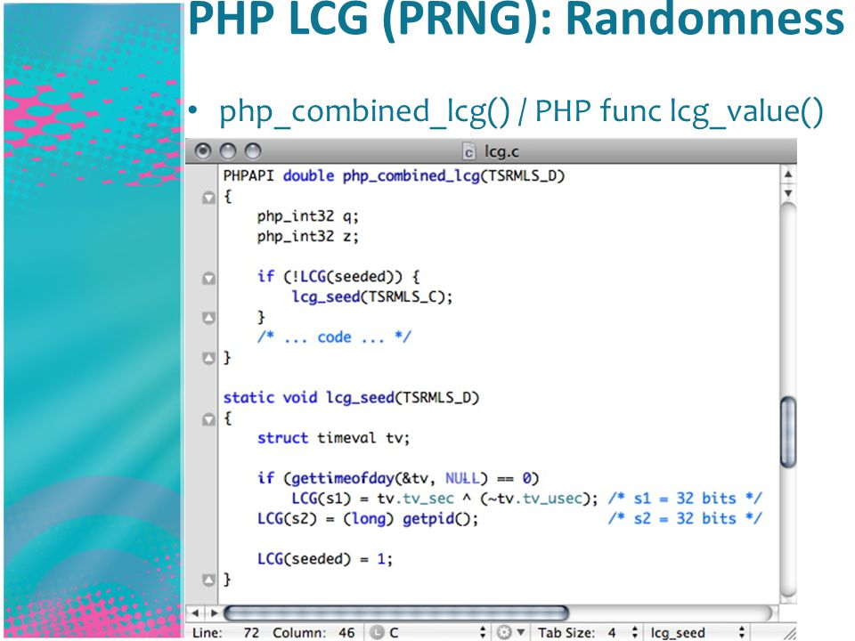 PHP LCG (PRNG): Randomness php_combined_lcg() / PHP func lcg_value()