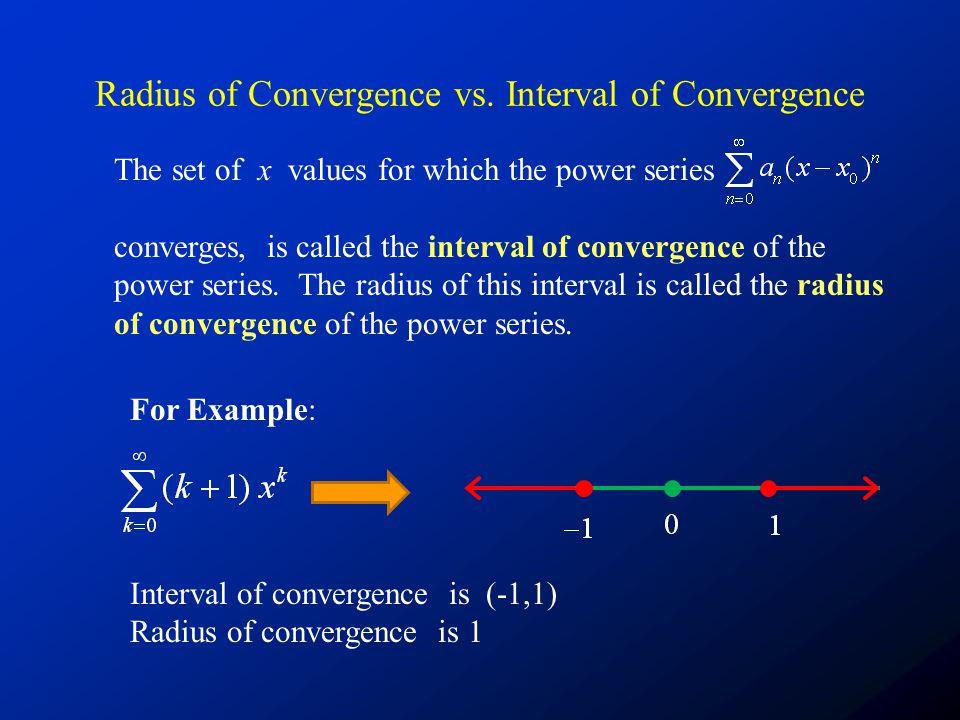 Radius of Convergence vs.