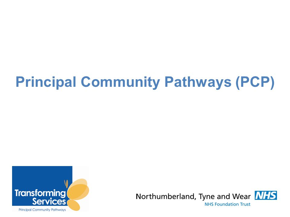 Principal Community Pathways A programme to design and implement new, evidence-based community pathways for adults and older people.
