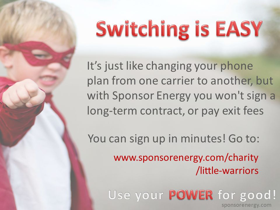 sponsorenergy.com Thank you for all that you do.You are using your power for good every day.