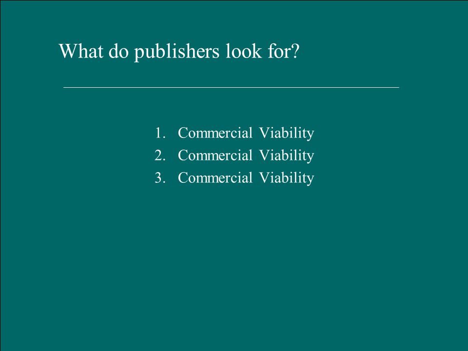 Hart Publishing, Oxford January 2012 What do publishers look for.