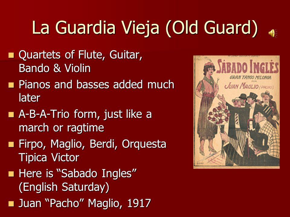 Middle-Tango: Phrasing