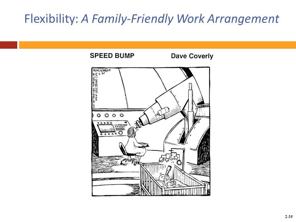 Copyright © 2014 by the McGraw-Hill Companies, Inc. All rights reserved. McGraw-Hill/Irwin 2-35 Flexibility: A Family-Friendly Work Arrangement