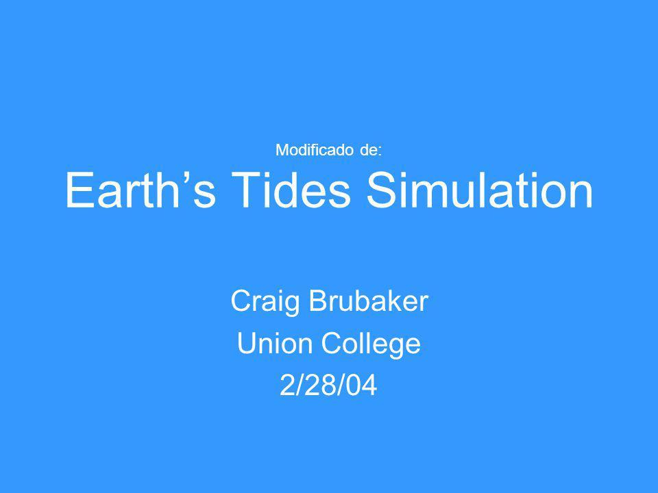 Modificado de: Earth's Tides Simulation Craig Brubaker Union College 2/28/04