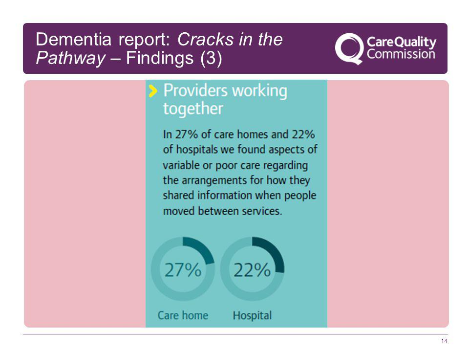 14 Dementia report: Cracks in the Pathway – Findings (3)