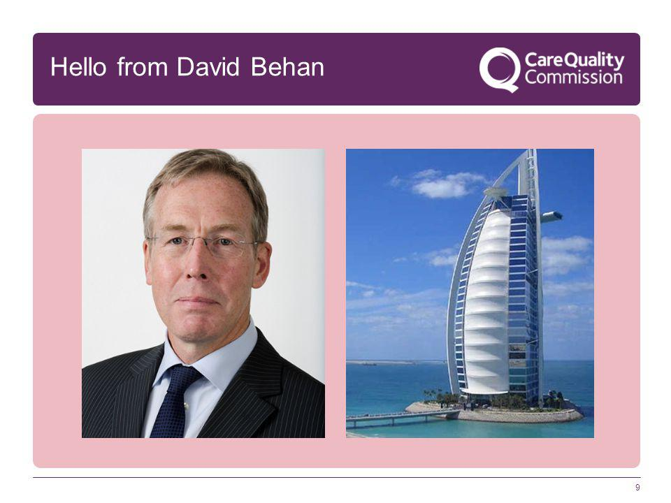 9 Hello from David Behan