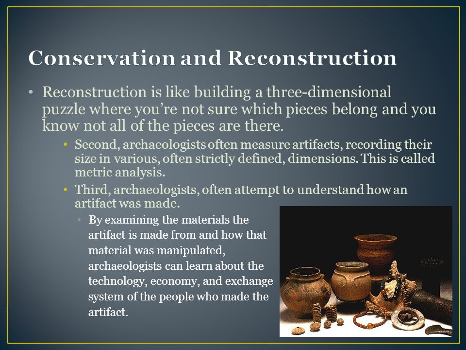 Reconstruction is like building a three-dimensional puzzle where you're not sure which pieces belong and you know not all of the pieces are there. Sec