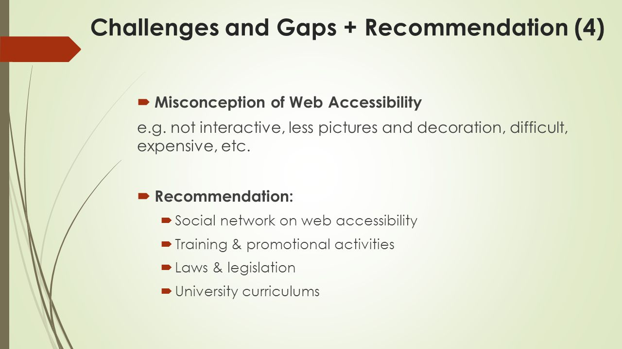  Misconception of Web Accessibility e.g.