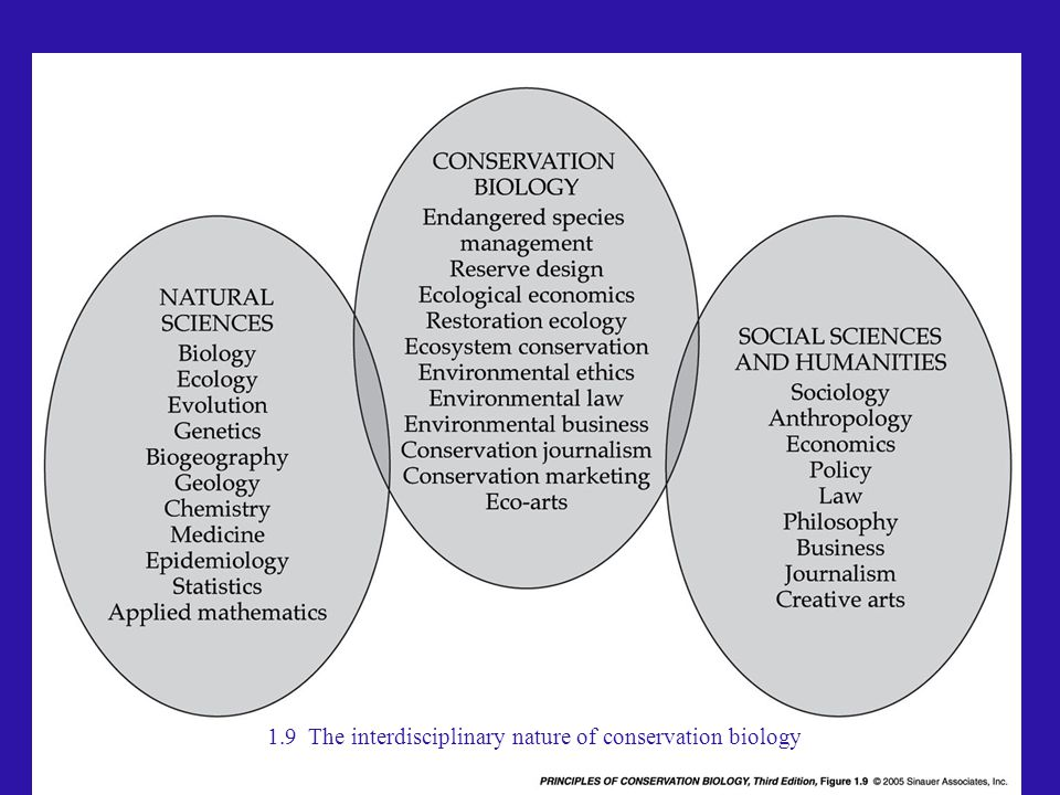 1.9 The interdisciplinary nature of conservation biology
