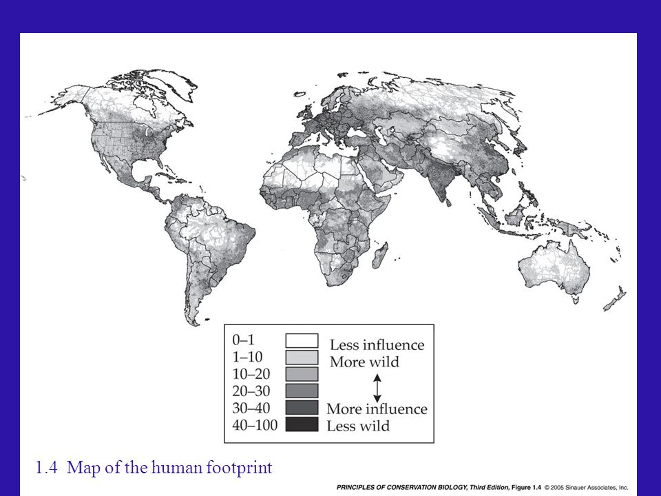 1.4 Map of the human footprint