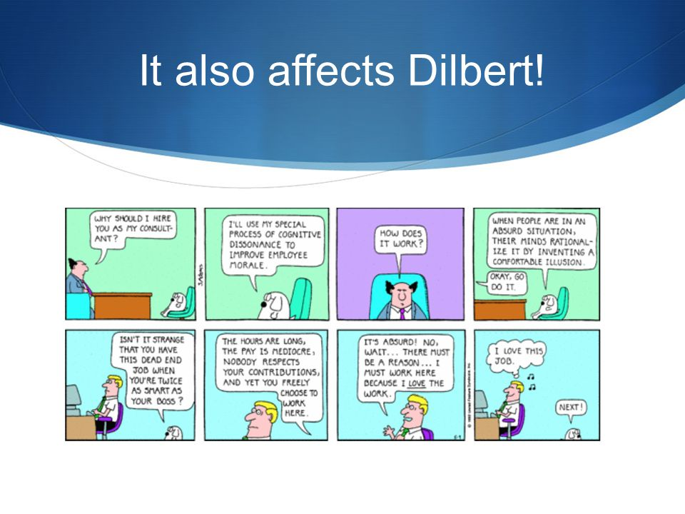 It also affects Dilbert!