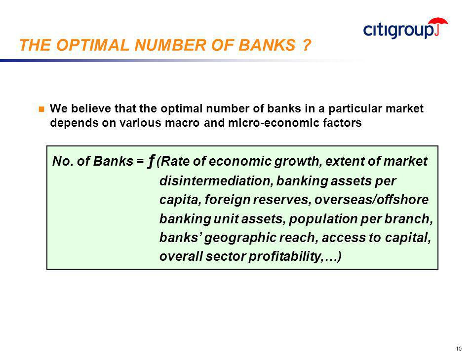 go to View, Header and Footer to set date 10 n We believe that the optimal number of banks in a particular market depends on various macro and micro-e