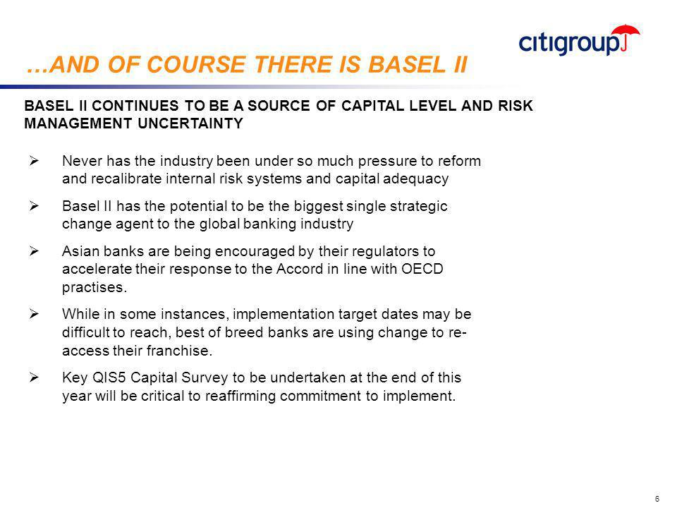 go to View, Header and Footer to set date 7 WITH CAPITAL CONTINUING TO GROW, BANKS FACE SOME STRATEGIC DECISIONS