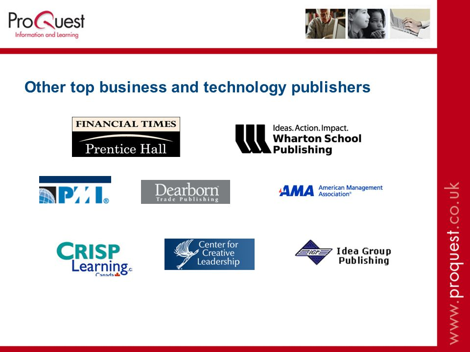 Other top business and technology publishers