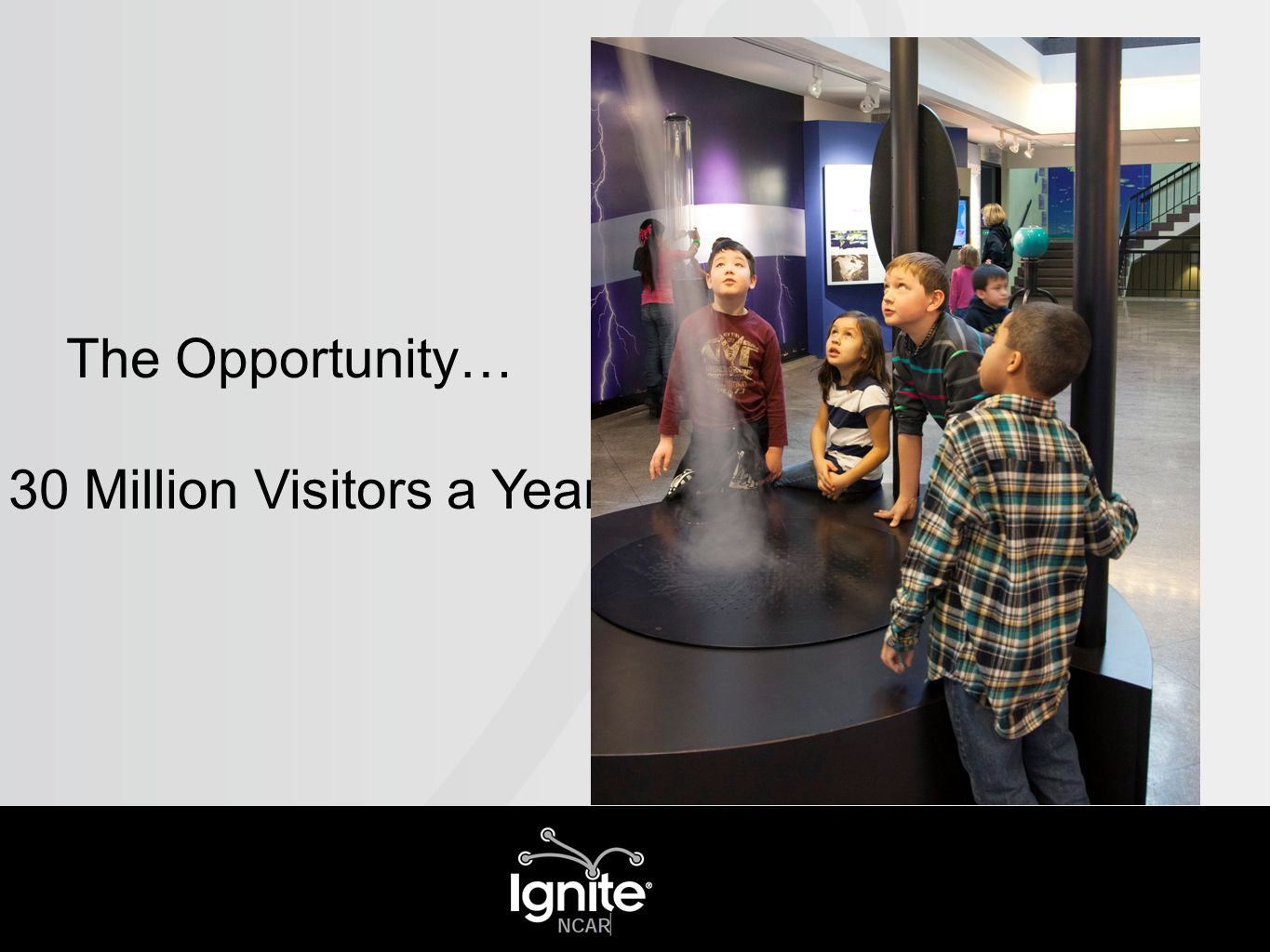 The Opportunity… 130 Million Visitors a Year