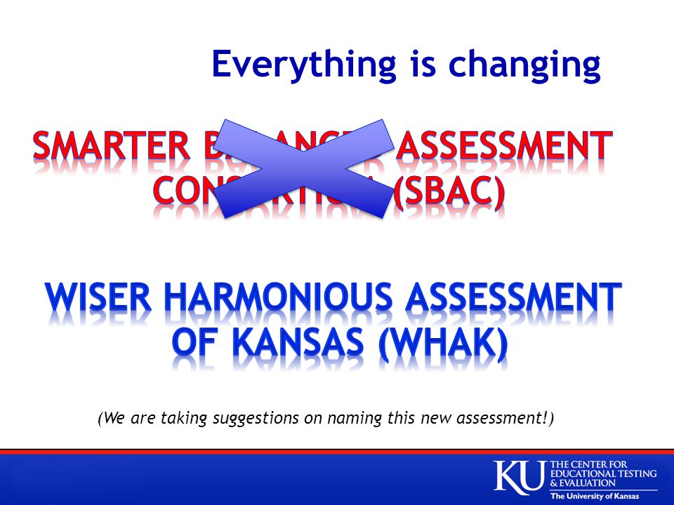 Everything is changing (We are taking suggestions on naming this new assessment!)
