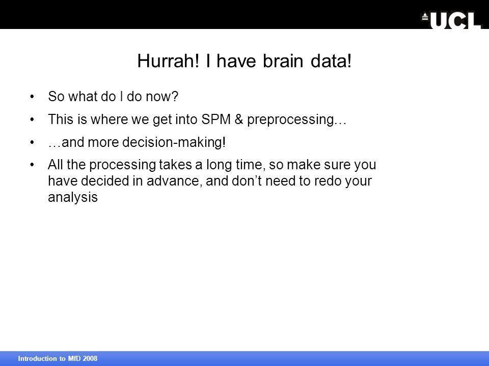 Hurrah. I have brain data. So what do I do now.