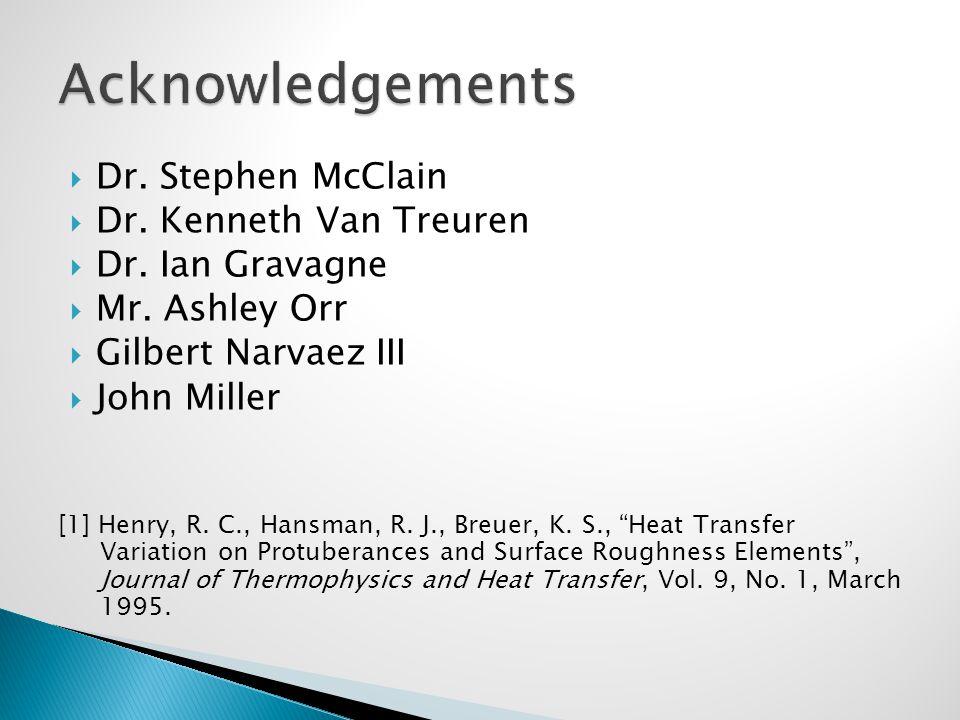  Dr. Stephen McClain  Dr. Kenneth Van Treuren  Dr.