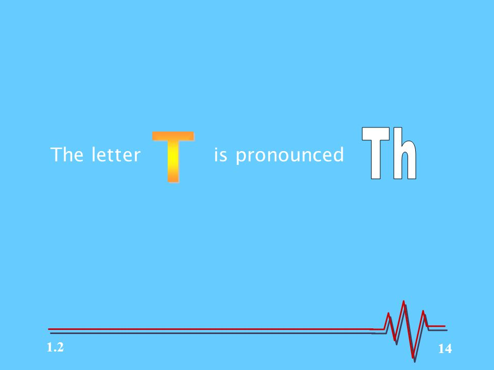 14 The letter is pronounced 1.2