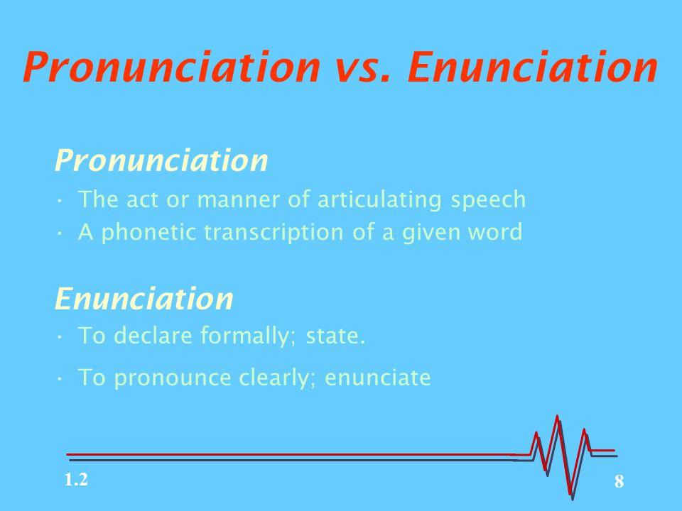 8 Pronunciation vs.